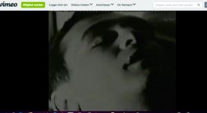 "Bildschirmfoto Andy Warhols ""Sleep"" vom Videoportal vimeo"