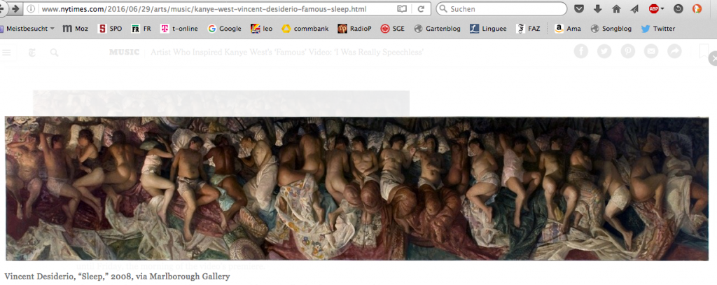 "Bildschirmfoto Vincent Desidorios ""Sleep"" auf www.nytimes.com"