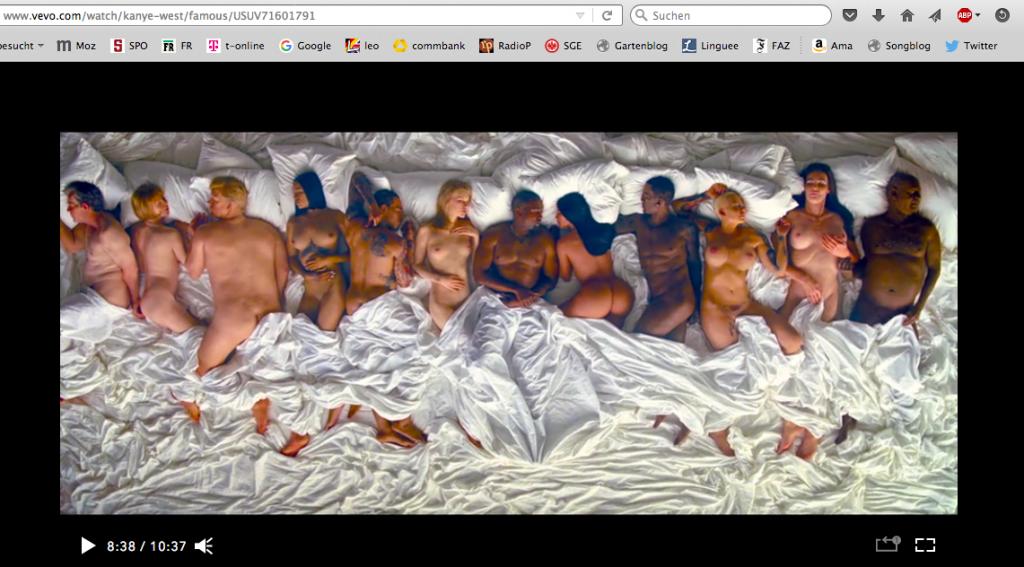 "Bildschirmfoto Kanye West, ""Famous"", vom Videoportal vevo"